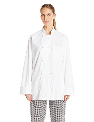 Uncommon Threads Unisex Chef Coat 10 Knot, White, Large by Uncommon Threads