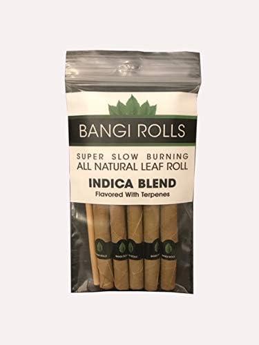 Indica Terpene Infused 10 x Bangi Rolls Leaf Blunt Wrap Cones 100/% Organic