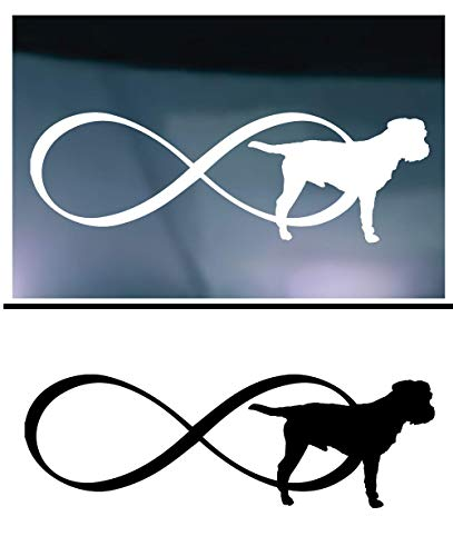 X2 - Infinity Border Terrier Decal Sticker for Vehicle Car Truck Window Planner Locker Cooler Laptop || High Quality Outdoor Rated Vinyl ()