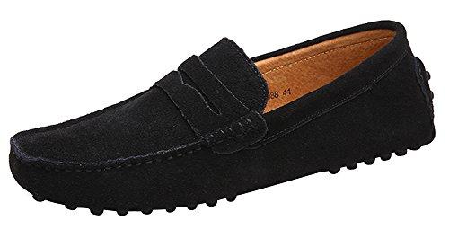 Guida da Slip Mocassini Loafers Scarpe On Penny Uomo Classic Nero YAER Scarpe da xBwPR