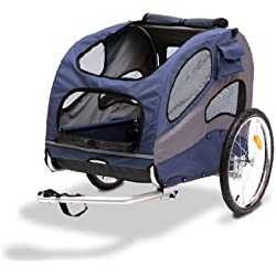 Solvit HoundAbout II Pet Bicycle Trailer, Aluminum Frame, Large