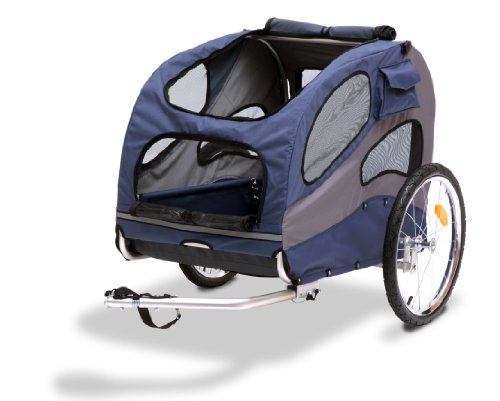 PetSafe Solvit HoundAbout II Pet Bicycle Trailer for Dogs, Aluminum Frame, Large