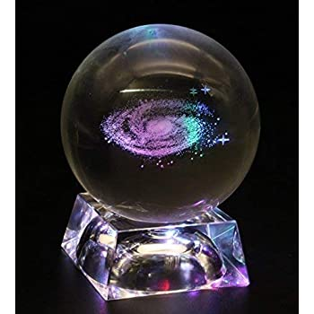 Big Fun Galaxy Crystal Ball with LED Base Home Decoration (60mm)