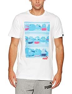 Puma Sneaker Photo Tee-Camiseta, Hombre, Puma White, Extra-Large