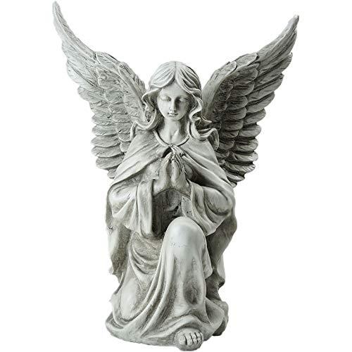 Northlight Kneeling Praying Angel Religious Outdoor Garden Statue, 13
