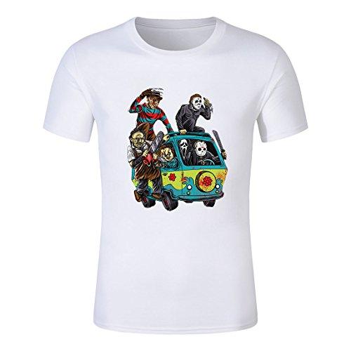(JMGIRL Holocaust Machine Print Movie Men's Cotton Printed T Shirt Interesting Design Short)