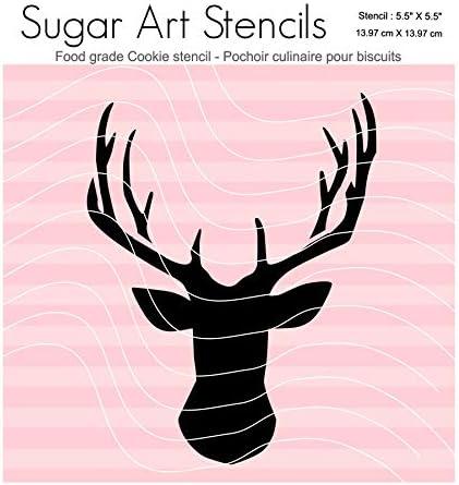 Cookie Stencil Deer pattern Woodlands scrapbooking background Hunting craft stencil