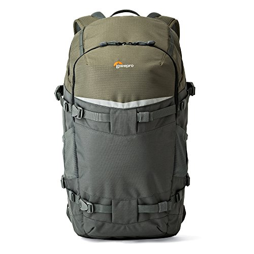 (Lowepro LP37016-PWW Flipside Trek BP 450 AW Backpack for Camera, Grey/Dark Green)