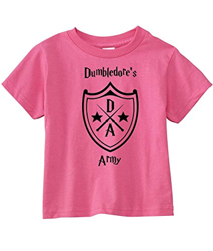 Ilion Clothing Co Harry Potter Toddler Dumbledore's Army T-Shirt (5/6T, Raspberry)
