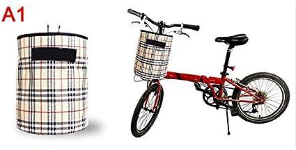 MTB cesta de la bicicleta bicicleta plegable bolsa de canasta de ...