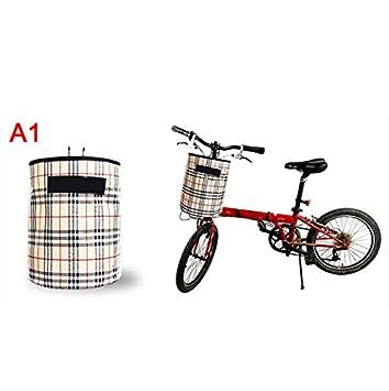 MTB cesta de la bicicleta bicicleta plegable bolsa de canasta de la bicicleta frente