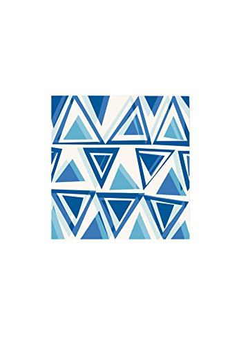 Command Décor Damage-Free Wall Tiles, Blue Triangles