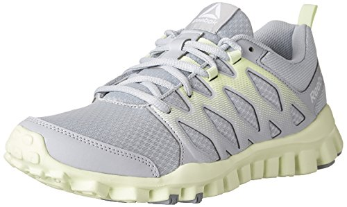 Reebok Women's Realflex Train 4.0 Cross-Trainer Shoe (6, Cloud Grey/Meteor Grey/Electric Flash/White)