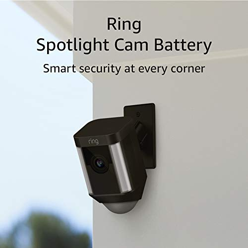 Ring Spotlight Cam Mount HD Security Camera, Black