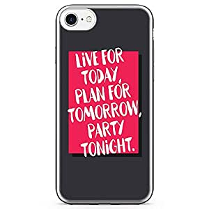iPhone 8 Transparent Edge Phone case Live For Today Phone Case Plan Tomorrow Phone Case Quote iPhone 8 Cover with Transparent Bumper