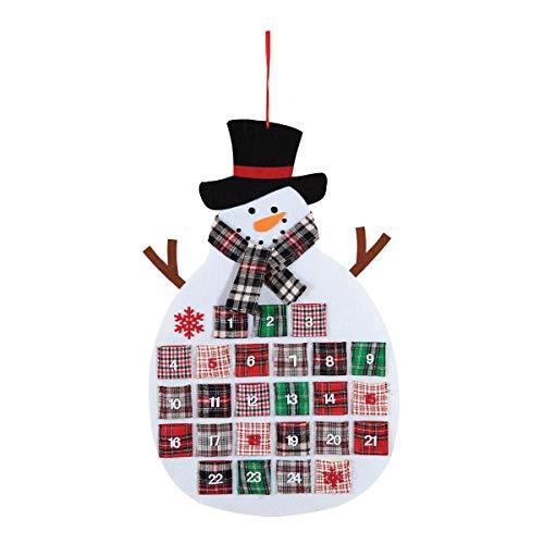 [해외]C&F 홈 격자 무늬 눈사람 달력 28 \\ / C&F Home Plaid Snowman Calendar 28 Long