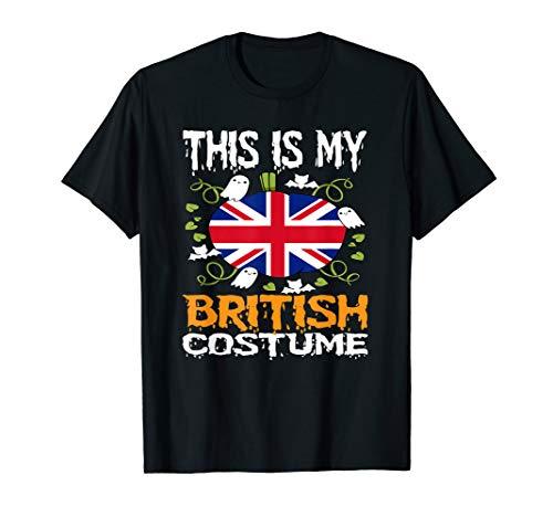 British Costume Funny T-Shirt Flag Halloween United