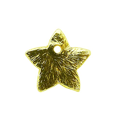 18K Gold Overlay Star Shape Chip Bead BG-373-10MM