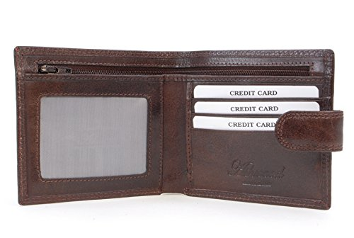 Box Ashwood Fold amp; Brown Leather Classic Wallet Gift Vt SXwPB