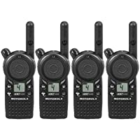 4 Pack of Motorola CLS1410 Two-way Radios with Programming Video