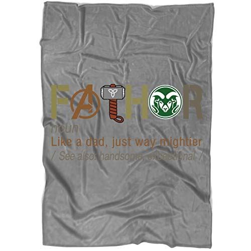 ROEBAGS Father's Day Colorado State Rams Blanket for Bed and Couch, Avengers Endgame 2019 Blankets - Perfect for Layering Any Bed (Large Blanket (80