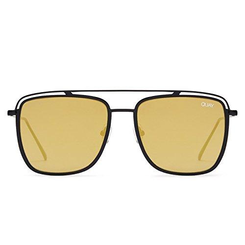 Quay Australia MR BLACK Men's Sunglasses Lightweight Metal Frame - - Mens Sunglasses Quay