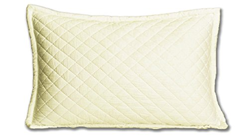 (Be-You-tiful Home CC752EKS Clancy King Sham, Ivory )