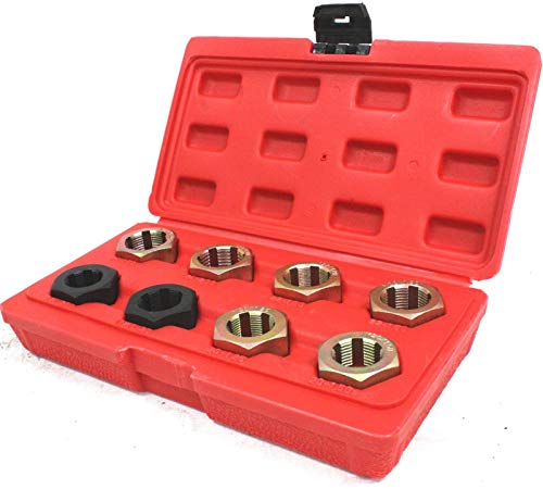 9TRADING 8pc Axle Spindle Fractional & Metric Rethreading Set Kit