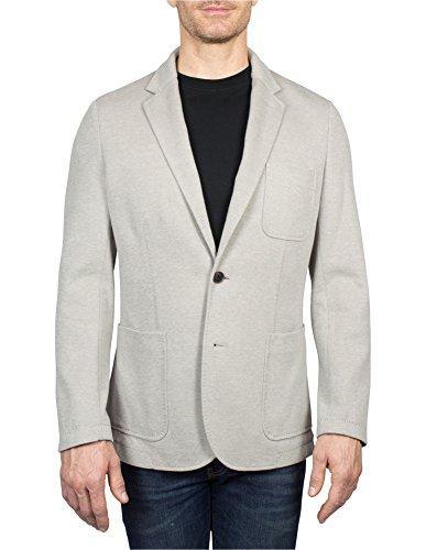 Cotton Blend Blazer (Thaddeus Peyton Men's Cotton Blend Notch Lapel Blazer With Patch Pockets, Tan, Size 4)