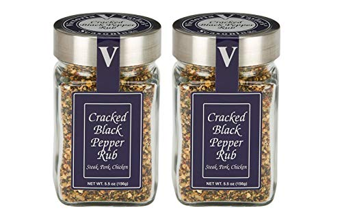 Cracked Black Pepper Rub 2 Pack - Beef, chicken, and pork.