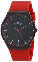 Skagen Men's SKW6073 Balder Quartz 3 Hand Date Titanium Red Watch from Skagen