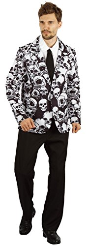 U LOOK UGLY TODAY Mens Halloween Costume Jacket Cosplay Adult Fancy Party Dress Skeleton