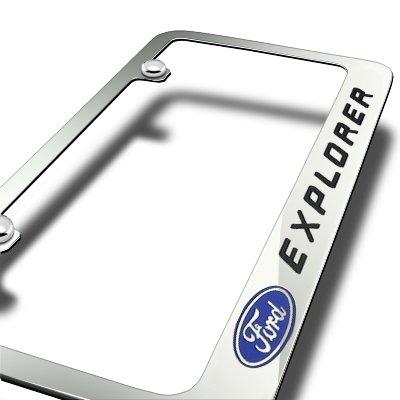 Ford Explorer Chrome Metal License Plate Frame