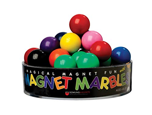 Dowling Magnets Magnet Marbles (.63 inch in Diameter), Set of 20 in Clear Dish]()