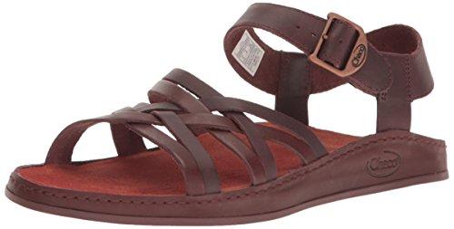 Chaco Women's Fallon Sandal, Java, 9 M US (Brown Leather Sandals)
