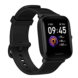 Amazfit Bip U Health Fitness Smartwatch with SpO2 Measurement, 9-Day Battery Life, Breathing, Heart Rate, Stress, Sleep…