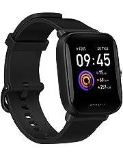 Smartwatch Amazfit Bip U Health Fitness com medida SpO2, bateria de 9 dias, respiração, ritmo cardíaco, estresse, monitoramento de sono, controle de música, resistente à água, 60 modos esportivos, tela HD, preto