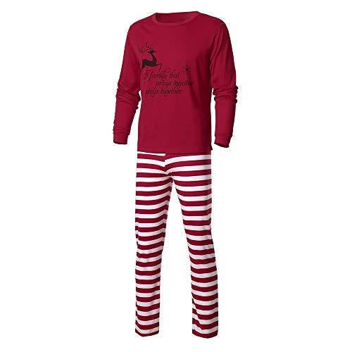 Rayé Un pantalon Nuit Longue Tops Hommes Vêtements Rouge Papa Maman Chemisier Décontractée Femmes Pyjamas Rovinci Impression Manche Noël Set Famille De Ensemble Lettre papa Père aqfn6UFvW
