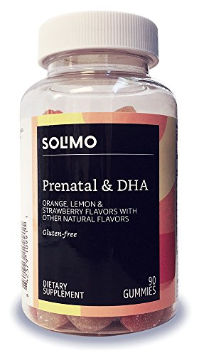 Amazon Brand Solimo Prenatal Vitamins & DHA, 90 Gummies, 45 Day Supply