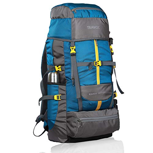 TRAWOC 60 L Travel Backpack for Outdoor Sport Camp Hiking Trekking Bag Camping Rucksack SHK012 1 Year Warranty (SkyBlue) Price & Reviews