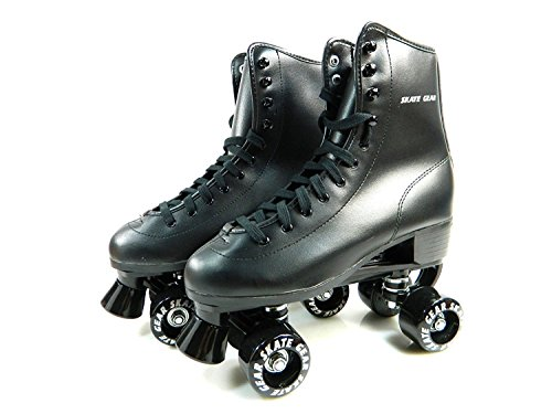 Cal 7 All-Purpose Indoor Outdoor Speedy Roller Skate for Youth and Adults (Black, Youth 6 / Men's 6 / Women's 7)