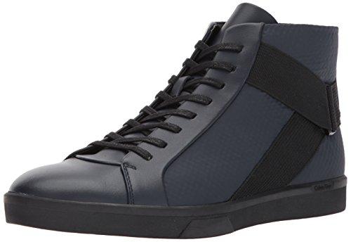 Calvin Klein Men's Irvin Brushed Leather/Tammy Fashion Sneaker, Dark Navy, 8.5 M US by Calvin Klein