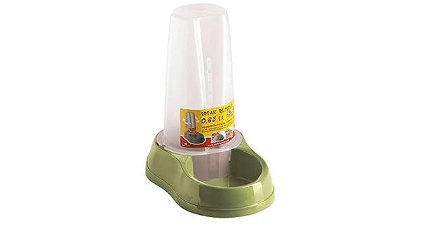 Stefanplast 4-04086 Tolva Versátil Agua y Alimentos, 0.65 l, Color Verde Pastel: Amazon.es: Productos para mascotas