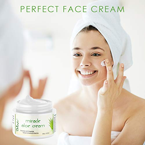 Miracle Aloe Moisturizing Cream Body Moisturizer and Care Dry, for 2