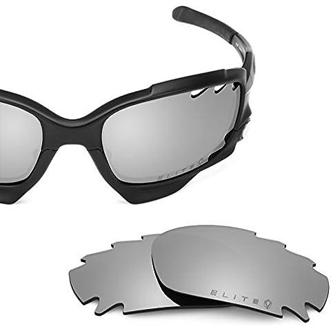 4032b1b17b4c0 Revant Polarized Replacement Lenses for Oakley Racing Jacket Vented Elite  Titanium MirrorShield
