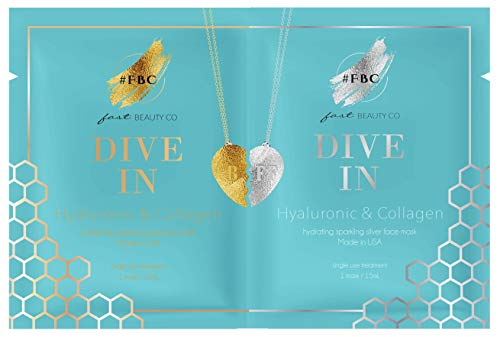 Fast Beauty Co. BFF Dive In! Hydrating Gold & Silver Face Masks With Hyaluronic & Collagen, 2 Units from Fast Beauty Co.