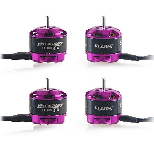 Crazepony 4pcs HGLRC 1104 7500KV Brushless Motors for Eachine Aurora 90 FPV Racing Drone Quadcopter Multirotors