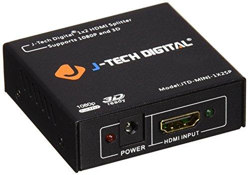 J-Tech Divisor digital versión 1.3, certificado de color intenso y audio de alta definición, Mini Size, 1X2 Mini 1080P