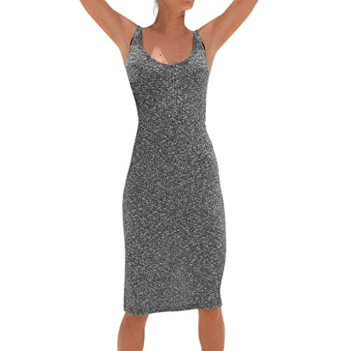 kemilove Women's Summer Supersoft Terry Racerback Maxi Dress ()