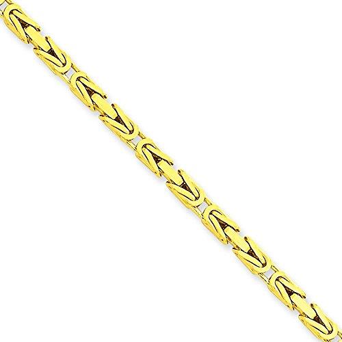Byzantine 2,5 mm 14 carats Bracelet Chaîne 8 cm-JewelryWeb pince de homard